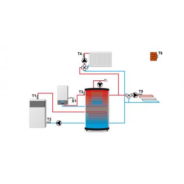 Контроллер для установки в котельной (ЗАМЕНА Tech ST-408n)