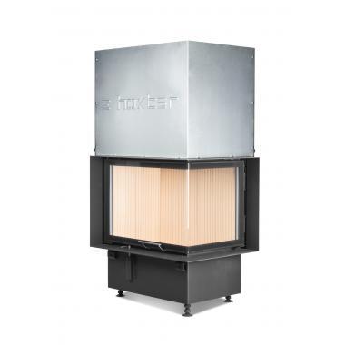 Камин с Г-образным стеклом на 13 кВт